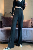 Long Flare Pants High Waist Split Wide Leg Long Pants
