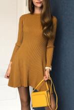 Women Elegant Knitted Sweater Dress Slim Mini Dress