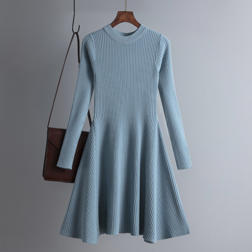 Women Elegant Knitted Sweater Dress Slim Mini Dress