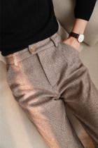Woolen High Waisted Pants Women's Harem Pencil Pants