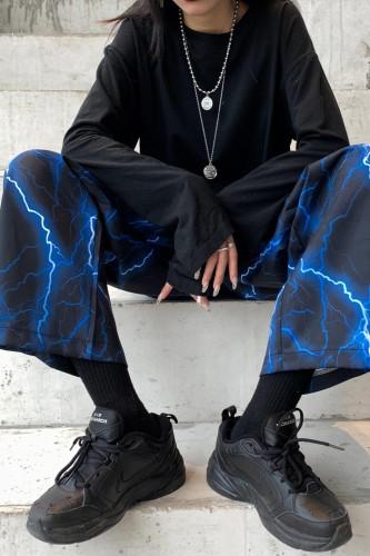 Y2k Wide Leg Pants E-Girl Elastic Waist Trouser