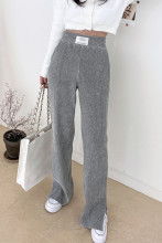 Corduroy Trousers High Waist Loose Wide Leg Pants