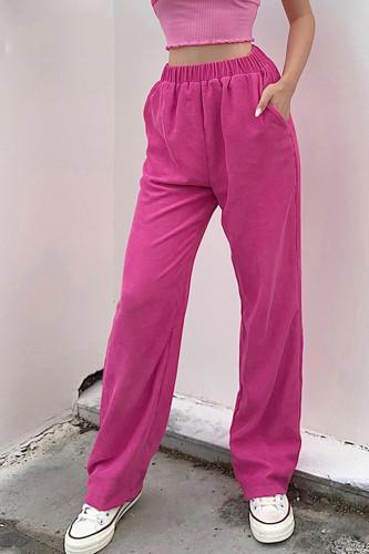 Y2K Corduroy High Waist Pants Hip Hop Loosed Pants