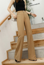 Elegant High Waisted Straight Wide Leg Pants
