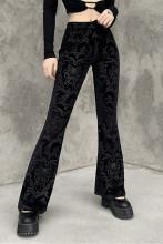 Y2K Vintage Velvet High Waist Skinny Flare Trousers