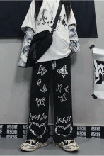 Hip Hop Wide Leg Pants Print Trousers