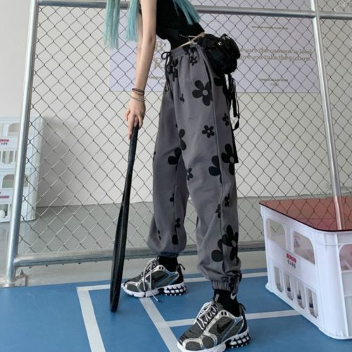 Hip Hop Sweatpants Joggers Trousers Loose High Waist Pants
