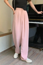 Casual Loose Pants Pocket Full-length Straight Suit Pants