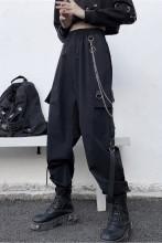 Women Cargo Pants Elastics High Waist Harem Pants