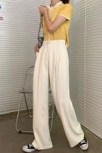 Floor-length Pants Casual Loose Suit Pants Wide Leg Trousers