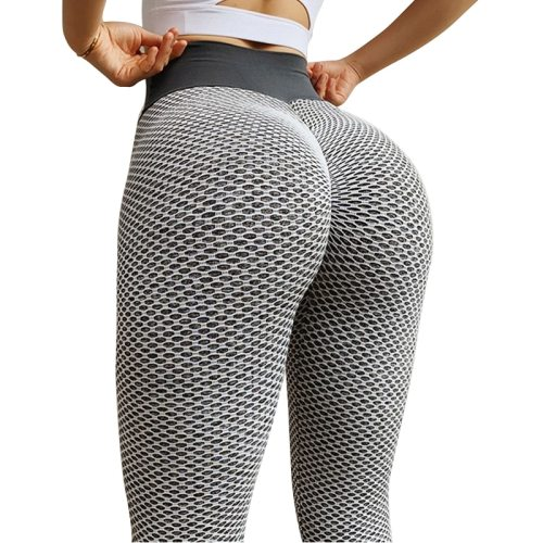Grid Tights Yoga Pants Women Seamless High Waist Leggings Breathable Gym Fitness Push Up Clothing Girl Yoga Pant
