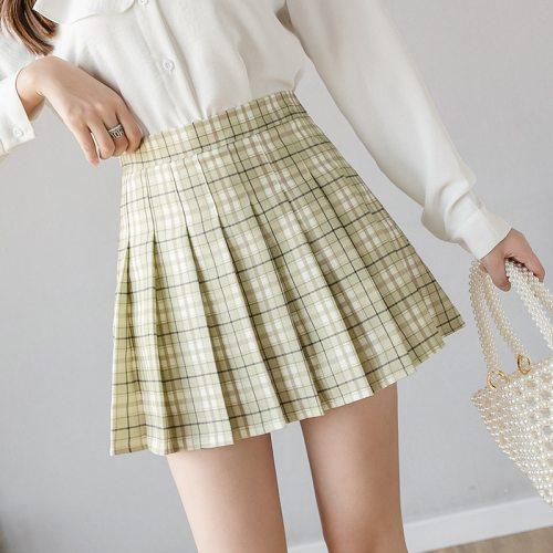 Y2K Skirt Preppy Style Plaid Pleated Skirts for Girls Cute Japanese School Ladies Kawaii Mini Skirt Women