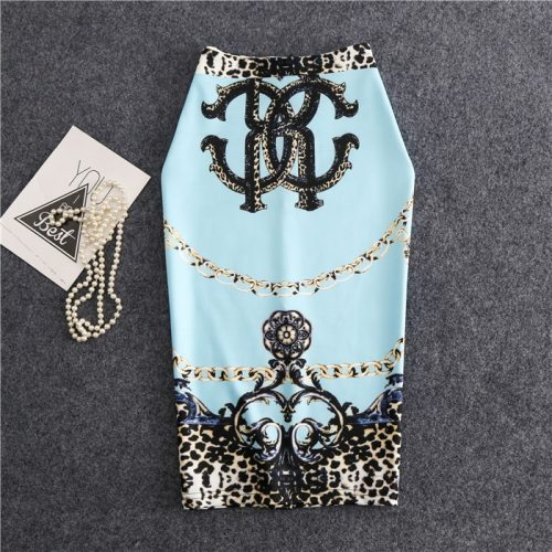 22 Models Summer Women ladies famous Pencil skirt Print High Waist Slim Bodycon Midi vintage Skirts korean style Female Falda