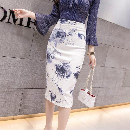 S-5XL 36 Colors Summer Women's midi Pencil skirts High Waist Slim Bodycon vintage Skirts korean jupe official store Falda Y2K