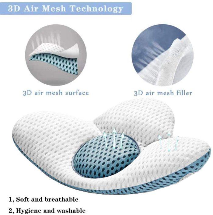 Buckwheat Lumbar Support Sleep Pillow