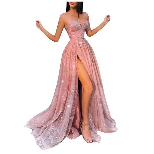 50# Women Formal Prom Party Ball Gown Woman Dress Sexy Sleeveless Backless Long Party Dresses for women