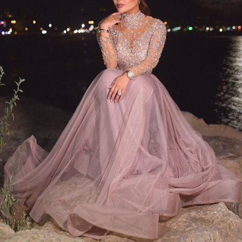 Sequins Mesh Maxi Woman Dress Summer Long Sleeve Vintage Beach Boho O-neck Dresses 2020 Elegant Party Long Pink Dress Vestidos
