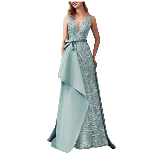 Woman Dress Formal Prom Party Ball Gown Sexy Sleeveless Backless Long Party Dresses for women