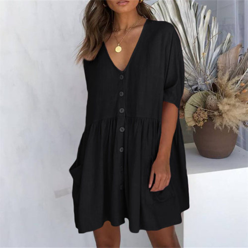 2021 Casual Summer Beach Dress White Cotton Tunic Women Beachwear Cover-ups Plus Size Sexy Pareo Beach Dress