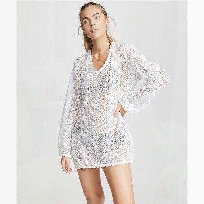 Swimwear Cover Up Beachwear Summer Beach Dress Plus Size Beach Wear Cover Ups Pareos De Playa Mujer Transparent Coverup