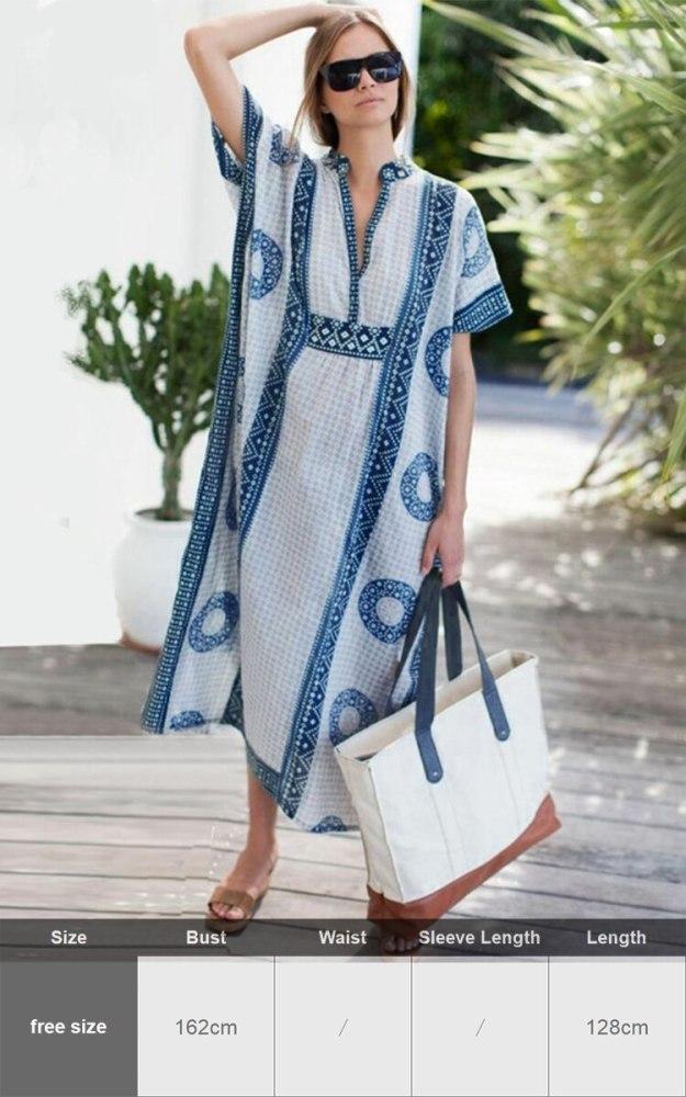 White Kaftan Beach Dress Plus Size Loose Cotton Tunic Beachwear Bikini Cover Ups Batwing Sleeve Robe De Plage Sarongs Vestidos