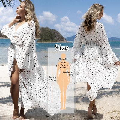 2021 Multicolored Bohemian Floral Printed Long Kimono Cardigan Tunic Women Plus Size Beachwear Clothes Tops Blouse N1030