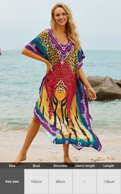 White Kaftan Beach Dress Plus Size Loose Cotton Tunic Beachwear Bikini Cover Ups Batwing Sleeve Robe De Plage Sarongs Vestidos