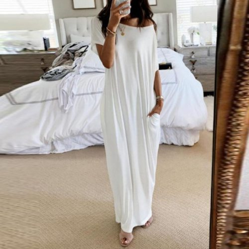 Women Loose Long Dress Maxi Printe Oversized Summer Spring Female Vestidos Plus Size Ladies African Casual Fashion Robes Gowns