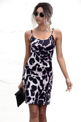 2021 Hot sale New Sleeveless Leopard Print Dress Women Summer Sexy Dress Snake Party Bodycon Pencil Hip Dresses Female Vestidos