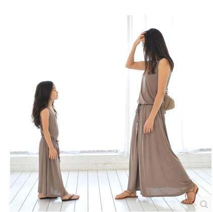 2021 Family Matching Clothes Girls Clothes Clothing Set New Parent-child Outfit Sundress And Skirt Bohemian Beach Leisure Dress