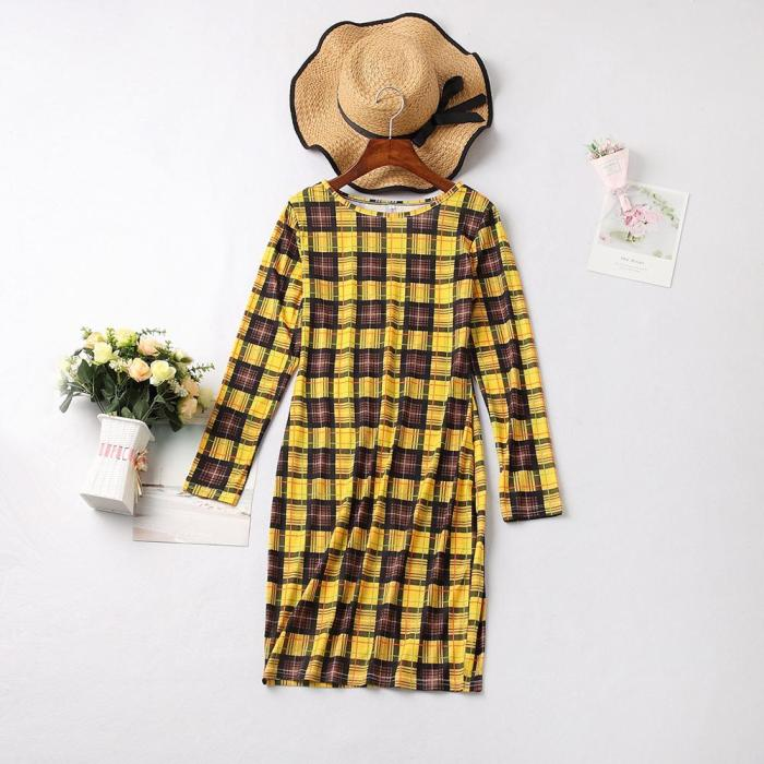 2021 New Year Family Look Lace Dresses Clothes Matching Outfits Long Sleeve Plaid Wedding Party Dress For Mother And Daughter