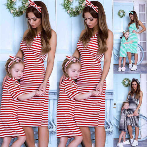 2021 Fashion Family Matching Clothes Baby Girl Mom Clothes Dress mom and daughter dress Girl Gift mother daughter two dresses