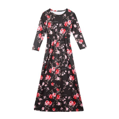 Summer New Floral Family Matching Outfits Clothes Mom and Daughter Dress