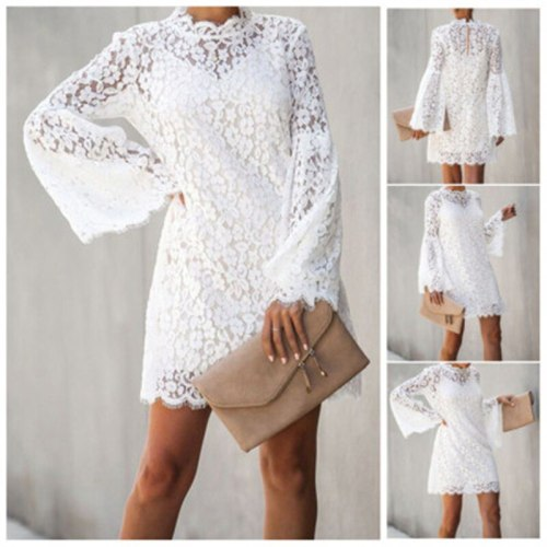 2021 Spring And Summer Fashion New European And American Sexy Lace Sling Long Sleeve Two-Piece Dress Trend 436