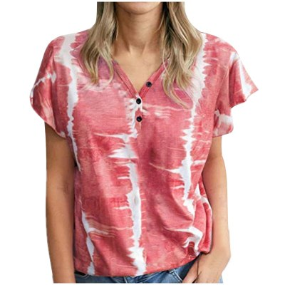 Women Harajuku Stripe Tops Blouse Women Summer Large Size Loose-Shouldered Tie-Dye Casual Camisetas Mujer Tshirt Women футболка