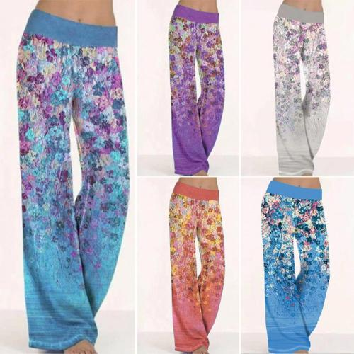 Loose Fitness Leggings Women Daily Casual Print Stretchy Wide Leg Leggins Palazzo Lounge Plus size Long Pants Women штаны