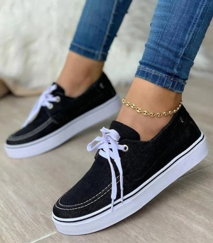 Fashion Women Canvas Shoes Trend Platform Sneakers New Comfortable Breathable High Quality Thick Bottom Vulcanized Shoes Women