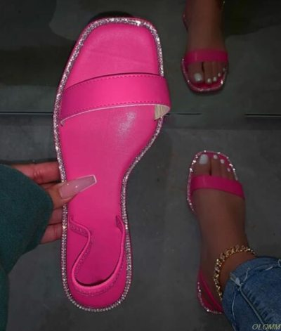 Summer Woman Flat Slippers Candy Color Jelly Shoe Woman Transparent Slides Female Open Toe Flip Flops Women's Beach Shoes