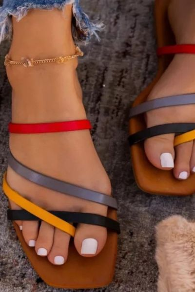 Women Sandals For Women Ladies Beach Shoes Low Heels Wedges Shoes Women Summer Beach Sandals Shoes Sandals Flat Casual Gladiator
