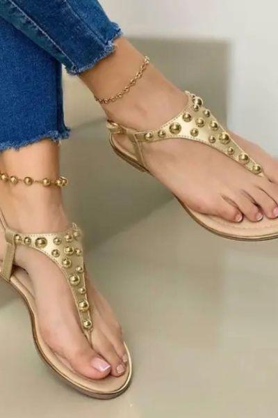 Women Flat Sandals Clip Toe Flip Flops Sandal Woman Buckle Beach Ladies Sandalias Summer Shoes 2021 New Fashion Plus Size