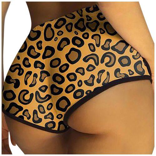 Workout Fitness Leopard Print Sexy Slim Elastic Seamless Biker Shorts Women High Waist Female Clothing Push Up Short Breathable