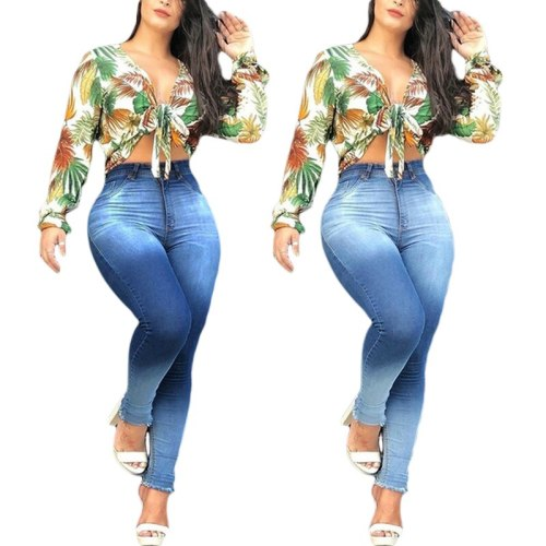 High Waist Denim Jeans For Women Slim Stretch Skinny Bodycon Jean Ladies Casual Plus Size Pencil Pants S-3XL