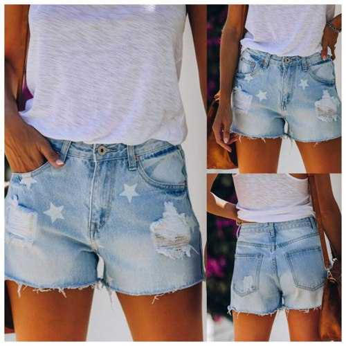Plus Size 2021 High Waist Jeans Casual Fashion Print Tassel Street Style Distressed Jeans Skinny