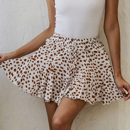 2021 Casual Summer Pleated Skirt Sexy High Waist Print Floral Skirts A Line Boho Clothing Y2133A