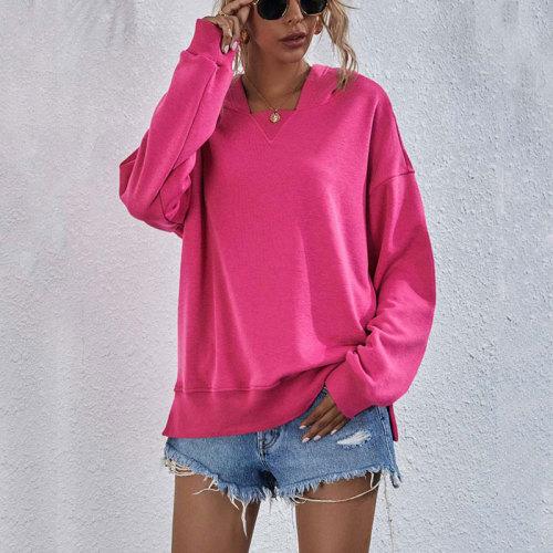 2021 Winter Hoodie Sweatshirt Women Fleece Thicken Warm Sweatshirt Female Loose Long Sleeve Hooded Sweatshirt Ladies