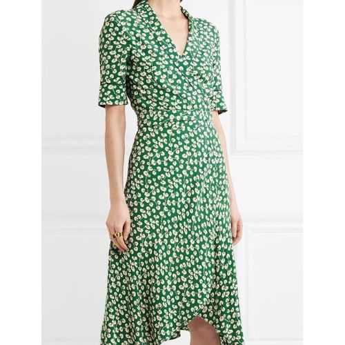 Wrap Up  Summer New 2021 French Girl Floral Dress Shows Thin Temperament Slim Mid Long  Dresses