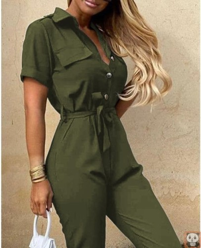 2021 Casual Printed One-Piece Solid Jumpsuits