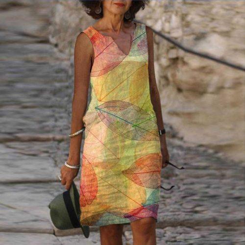 Plus Size 5XL Dress For Women 2021 Casual Vintage Dresses Half Sleeve V Neck Female Retro litera Printed Loose Dress Vestidos
