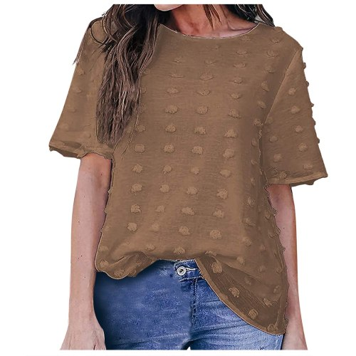 New Women's Dress Women Fashion Short Sleeve Round Neck Solid Color T-Shirt Tops For Female Платье Летнее camisetas de mujer