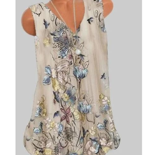 Fashion Women T-shirt Casual Sleeveless T-shirt Women Loose Top